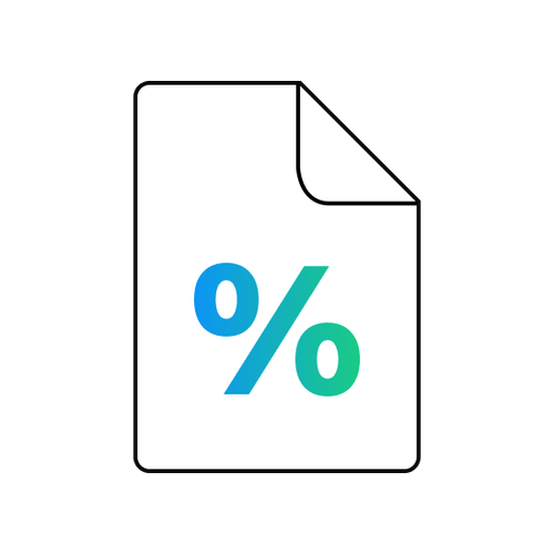 Margin Rates Icon