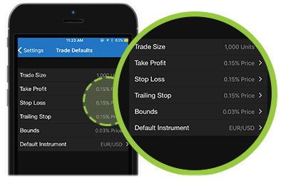 customize your fxTrade App